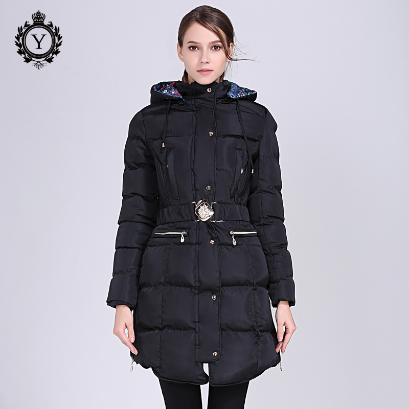 f0bdf7ff063 2018 COUTUDI New Winter Coat Long Slim Plus Size Thick Cotton Padded Winter  Hooded Jacket Womens Fashion Warm Outwear Parkas New-in Parkas from Women s  ...