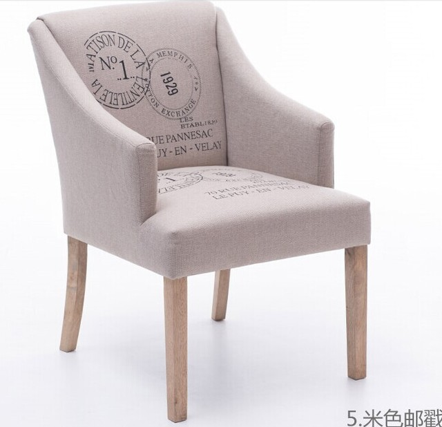 100% Cotton With Armrest Sofa High Quality Oak Chair,coffee Chair,wood Legs