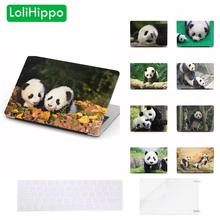 LoliHippo Animal Panda Series Laptop Protective Case for Apple Macbook Air Pro 11 12 13.3 15 Inch Notebook Cover for A1708 A1989