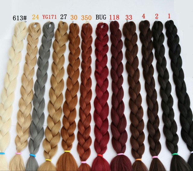 165g Synthetic Braiding Hair Extensions Twists 82 Purple Ombre Kanekalon Jumbo Colors