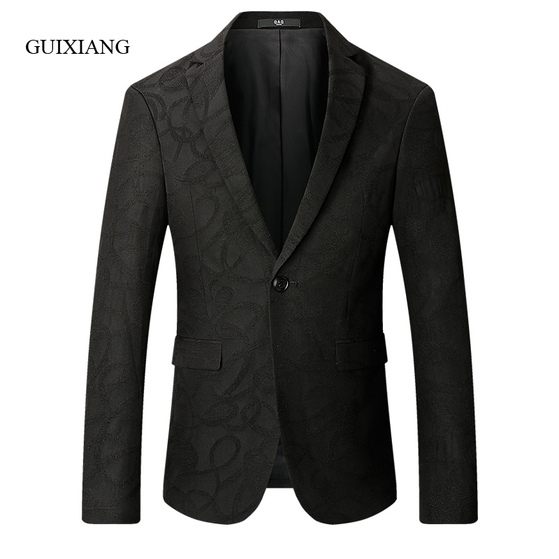 2019 New Arrival Autumn And Winter Style Men Boutique Blazers Fashion Casual Single Button Floral Color