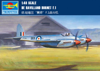 "Trumpet 02893 1:48 British German. Haviland ""wasp"" F.1 fighter Assembly model"