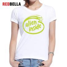 REDBELLA Basic Simple Women T-shirt Autumn Xenomorgh Alien Adult Clothing 100% Cotton Printed Casual 2017 Poleras De Mujer Moda