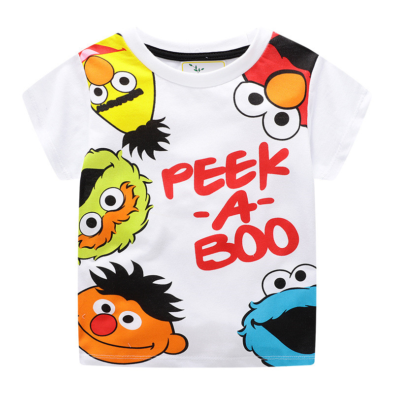 Jumping meters Summer 100% Cotton Boys Girls T shirts Tigers Print New  Baby Clothes Hot Selling Boys Tees Animals Kids Tops 4