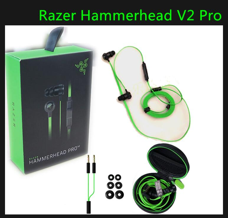 Razer Hammerhead V2 Pro Earphone With Microphone In Ear Gaming Headsets Noise Isolation Stereo dota2 LOL