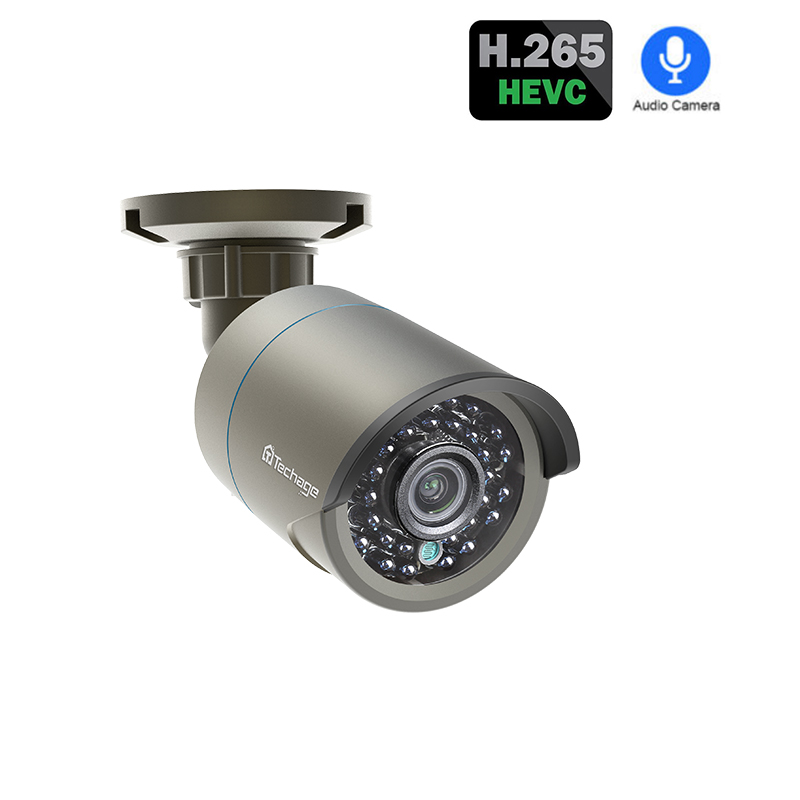 Techage Poe-Ip-Camera Record Surveillance Security Cctv Outdoor Onvif H.265 Audio-Sound title=