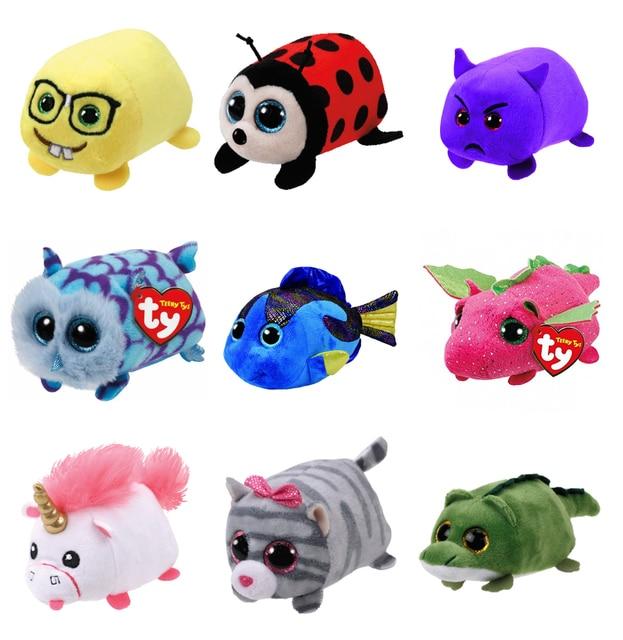 Mini 10cm Ty Beanie Boos Big Eyes Unicorn Soft Plush Doll Kids Toys owl  leopard Koala Tiger Elephant Children Birthday Gift 5994edadb46