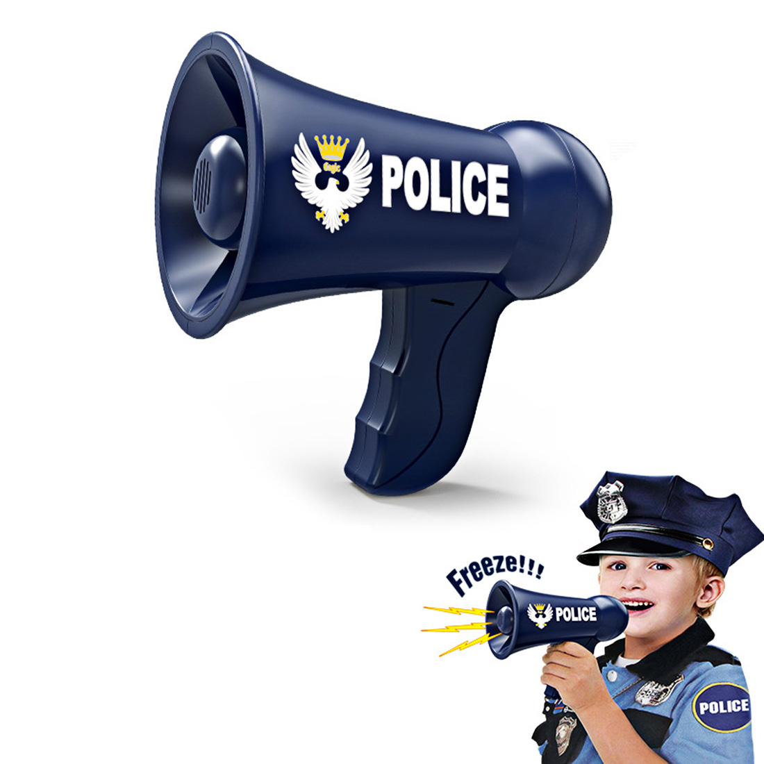 Surwish Children Role Play Toy Battery Powered <font><b>Police</b></font> Megaphone <font><b>Police</b></font> Play Set Fro Kids Children New 2019 image