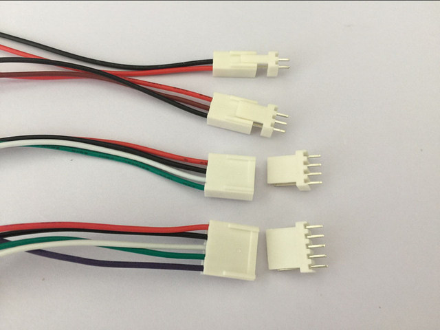 10 SETS 2pin/3pin/4pin/5pin 2.54mm PCB Connector plug with Wires Cables L00MM L150MM L200MM