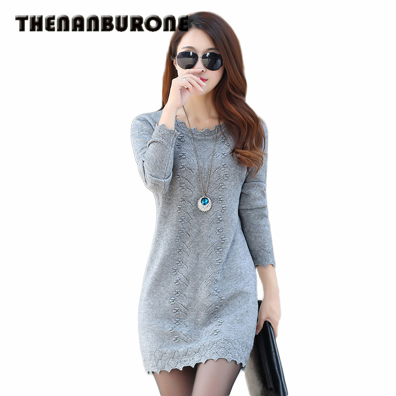 THENANBURONE Women Winter Sexy Dress Long Sleeve Thicken Party Slim Fit Package Hip Hedging Knitted Sweaters