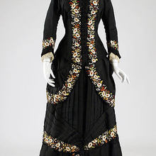 1878 французский ужин платье Суета платье историческое платье антикварная вещь, викторианский туалетный столик 1800