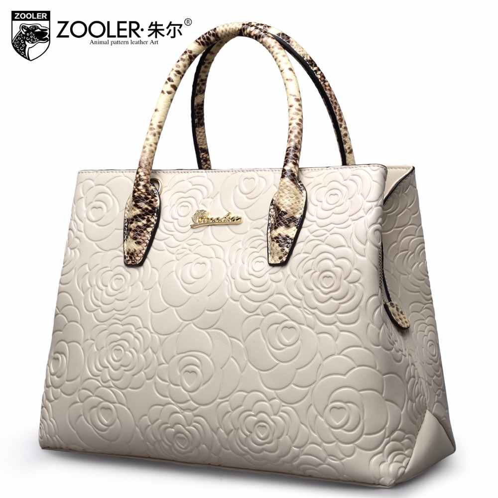 embossed pattern leather tote ZOOLER 2018 genuine leather bags handbag women bag real limited in stock bolsa feminina #5002 ...
