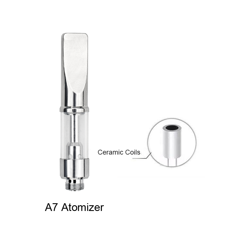 Original A3 Atomizer 0.3 0.5 0.8 1ml Glass Dual Coil Vaporizer Ceramic coil Pen Atomizer E Cigarette V2 (4)