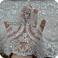 Белый Блестка Кружева Украшение Блесток Кружевной Отделкой Свадебное Платье Ширина Ткани 23 см 3 М/лот