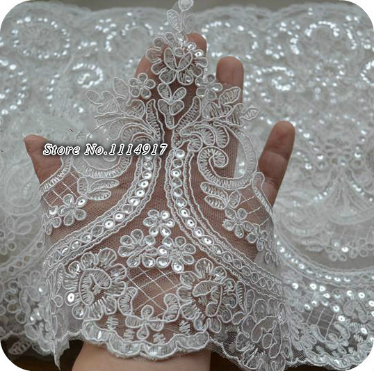 Online buy wholesale sequins lace from china sequins lace for Paillette decoration