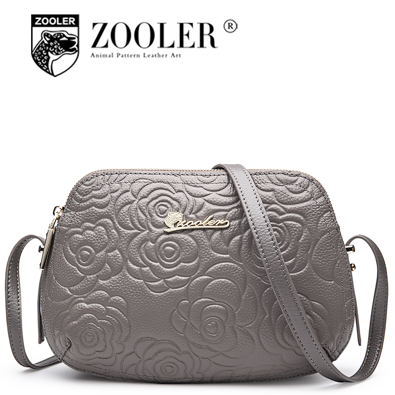 Top!2018 ZOOLER genuine leather woman shoulder bags real leather bag cross body embossed women messenger bag bolsa feminina#2355 2018 women messenger bags vintage cross body shoulder purse women bag bolsa feminina handbag bags custom picture bags purse tote