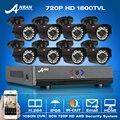 Anran 8ch ahd 1080n hdmi dvr cctv sistema + 8 pcs 720 p hd 1800tvl ao ar livre à prova de intempéries câmera de segurança em casa kit de vigilância por vídeo