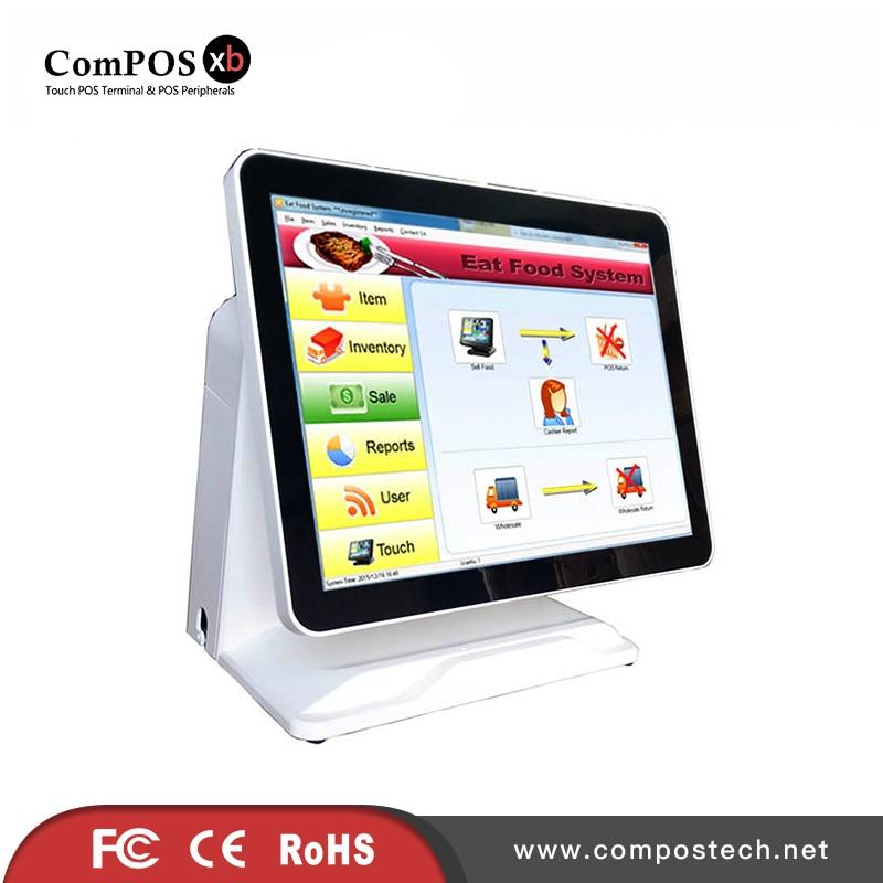 все цены на 2017 Most Popular 15 Inch POS Touch Screen System POS Terminal  Machine POS1618P With VFD Customer Display For Restaurant онлайн