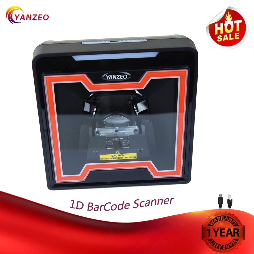 Yanzeo YZ868 Desktop Directional 1D Barcode Platform Scanner High Speed Automatic Omnidirectional USB RS232 Warranty 12 Months
