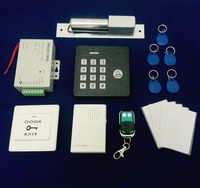 Full RFID Door Access Control System Set Combination Electric Mortise Lock Waterproof Controller Special Power Source