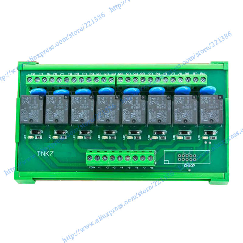 8 Channel 5v 10a Omron Relay Module Driver Board Output