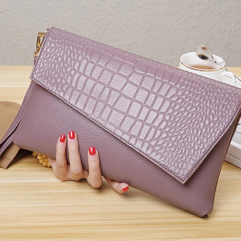 Clutch Bag Female Genuine Leather Wallet Shoulder Messenger Bag Ladies Luxury Crossbody Evening Party Bags Handbags For Women