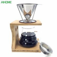 Reusable Stainless Steel Coffee Dripper Pour Over Coffee Maker Drip Coffee Filter