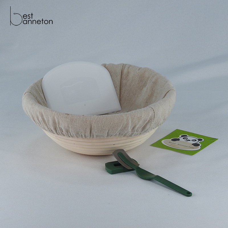 Best banneton 10 Inch Banneton Proofing Basket Set for Professional and Home Bakers Bowl Scraper and Brotform Cloth Liner lame