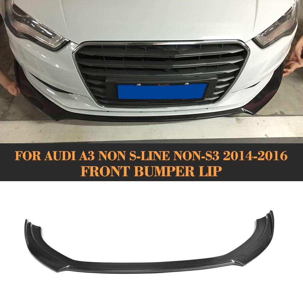 цена на Carbon Fiber Front bumper diffuser lip for Audi A3 standard Sedan 2014 2015 2016