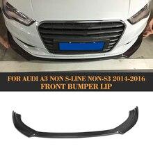 Carbon Fiber Front bumper diffuser lip for Audi A3 standard Sedan 2014 2015 2016