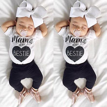 Newborn Girls Boys Baby Bodysuits letter print Summer Cartoon Clothing baby boy girl clothes infant toddler jumpsuits