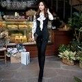 dabuwawa OL high waist turn-down collar jumpsuit long pants S-XXL