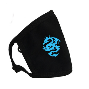 Image 5 - Luminous Fashion Face Personality Mask Cotton Fabric Breathable Warm Letter Printing Pustproof Windproof Cold Unisex