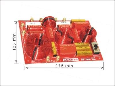 2 PCS Kasun US-385C 3Way Haute Qualité Haut-Parleur Audio Crossover Se Croisent Fréquence 600Hz et 4650Hz