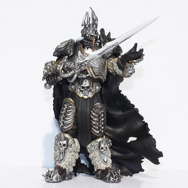 Fall of The Lich King Arthas Menethil 17.5cm PVC Action Figures Toy Model Gift world of wow arthas menethil lich king deluxe action figure statue nib