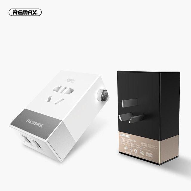 Remax android inteligente wifi enchufe cargador de pared control remoto inalámbrico solo enchufe 2 usb de carga para el teléfono móvil