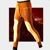 Thermal Underwear for Men Warm Pants Male Wool Cotton Thicken Warm Underwear Trousers Men's Winter Warm Pants Male Long Johns Long Johns