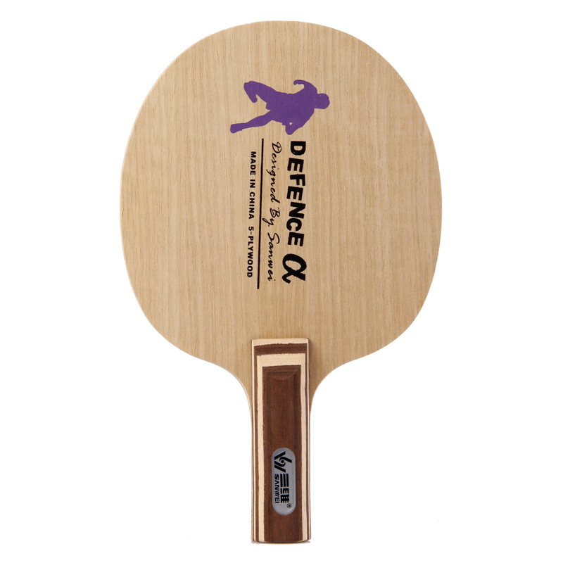 SANWEI Defence Alpha (Big Size, Chopping) Defensive Play Table Tennis Blade Defence Chop Racket Ping Pong Bat Paddle