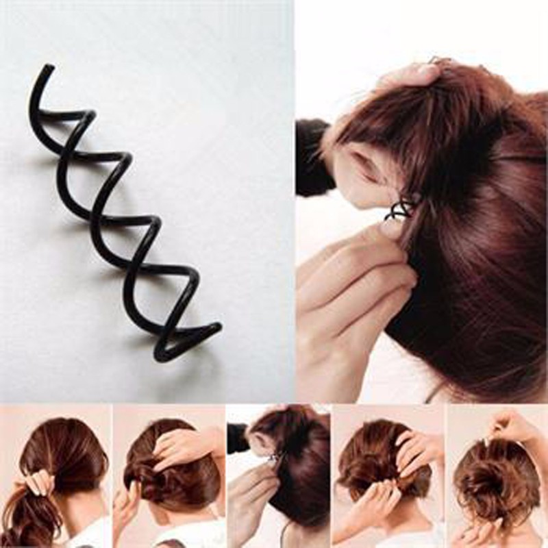 20pcs Womens Spiral Spin Screw Girls Hair Accessories Twist Hair Clips Black Hairpins Hair Clip For Women Bun Maker Headwear women headwear 2017 retro hair claw cute hair clip for girls show room vitnage hair accessories for women