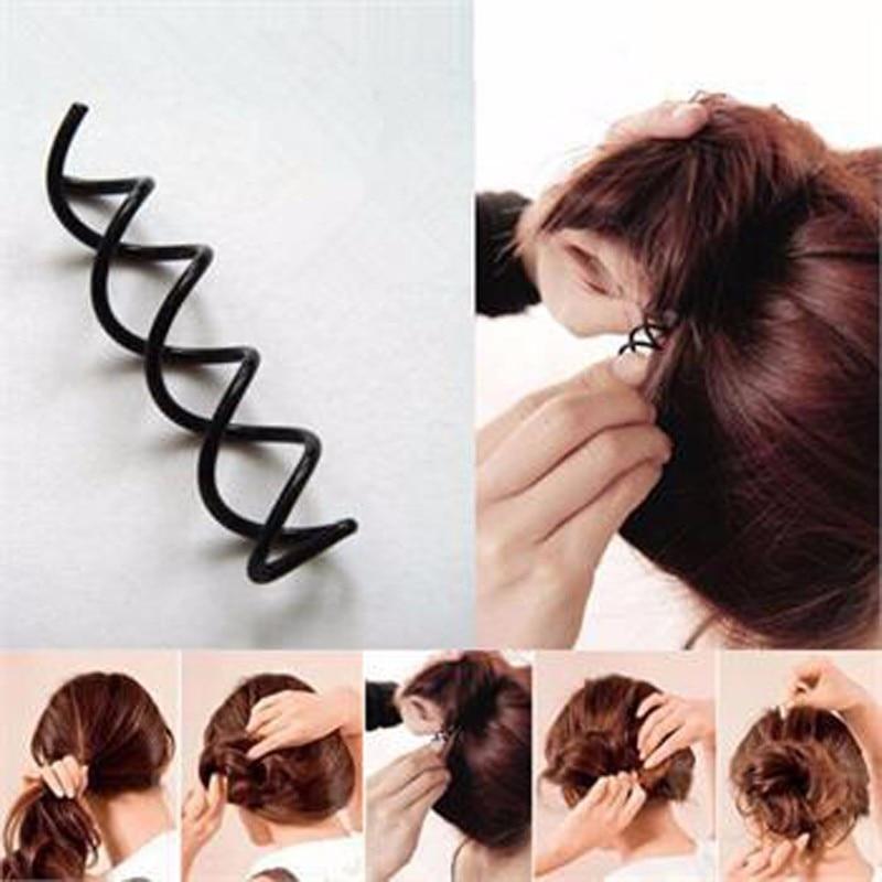 20pcs Womens Spiral Spin Screw Girls Hair Accessories Twist Hair Clips Black Hairpins Hair Pins For Women Bun Maker Headwear