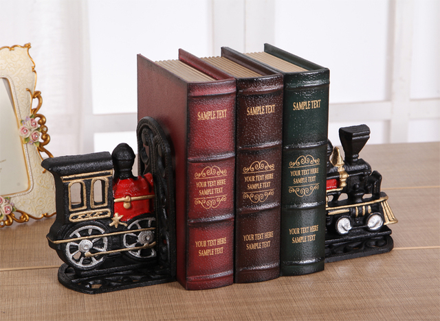 Superieur Exquisite Little Train Iron Bookends Creative Train Office Bookends  Decoration Iron Book Stand Nice Gift