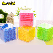 4 Colors Maze Magic Cube Puzzle 3D Mini Speed Cube Labyrinth Rolling Ball Toys Puzzle Game