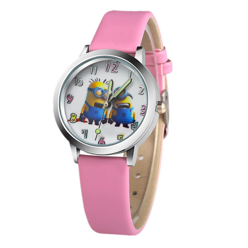 2018 patroon schattige cartoon kinderhorloge hete cartoon lederen - Kinderhorloges