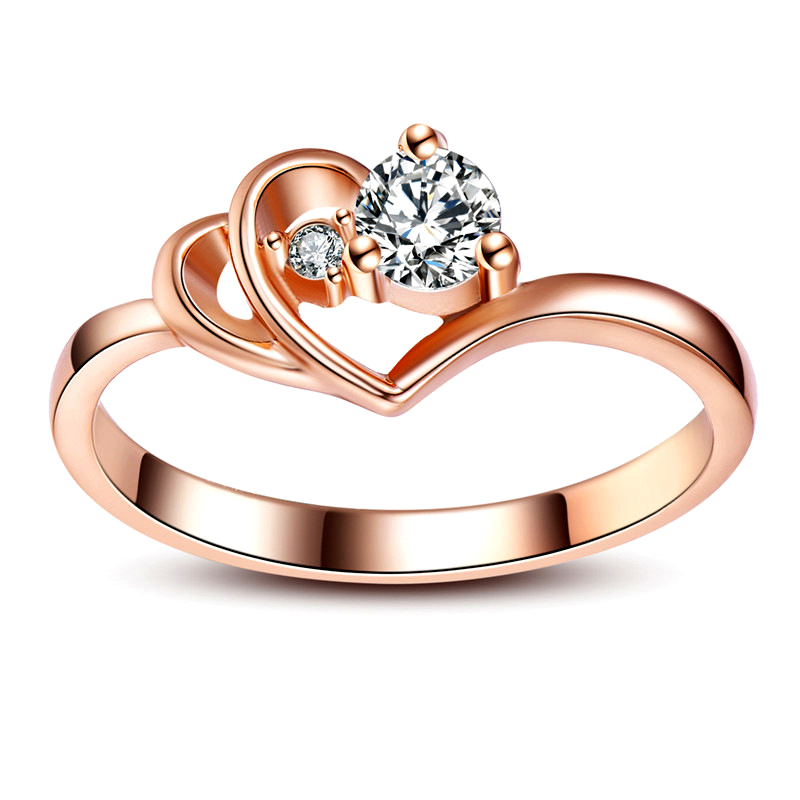 Aliexpress.com : Buy Double Hearts Of Love, Rose Gold