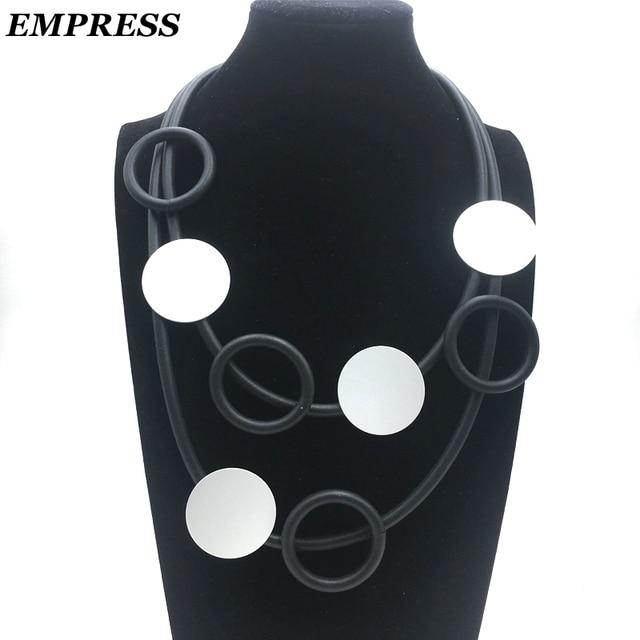 Imperatriz Jóias DIY Afirma Que O Glamour das Mulheres Hand-Made Colar de Multi-Camada de espuma Macia Do Vintage de Alumínio É um Colar Da Sorte.