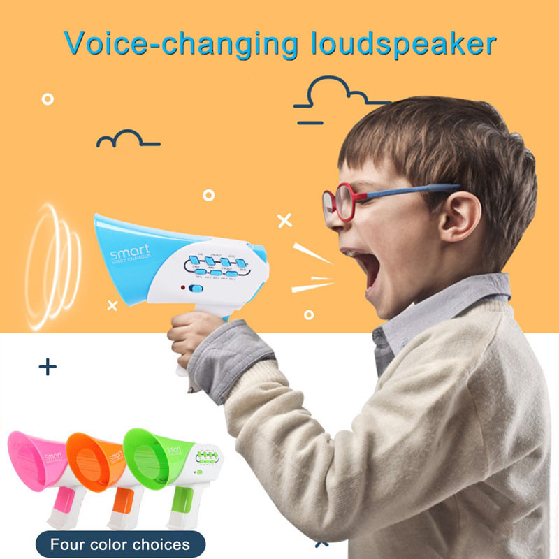 Hot Selling Mini Horn Funny Kids Loudspeaker Toy 7 Voices Plastic Voice Changer Voice-changing Toys Education Toys For Children