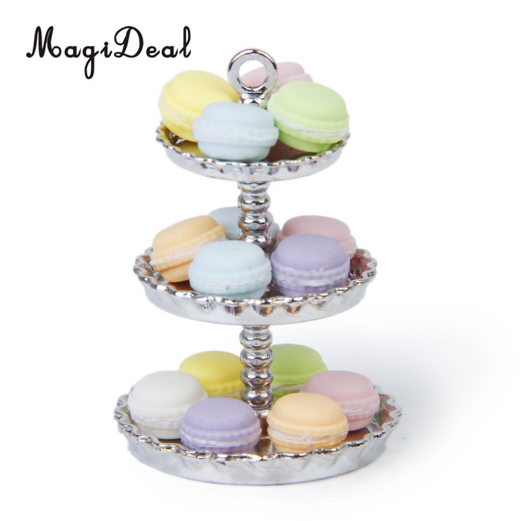 1Pcs White 1//12 Dollhouse Miniature 3 layer Metal Desserts Snack Rack Stand  OJ