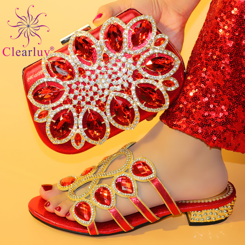 Detail Feedback Questions about New Arrival Italian Designer Shoes and Bag  Matching Set Decorated with Rhinestone African Shoe and Bag Set Nigerian  Wedding ... bc4cf24e0c63