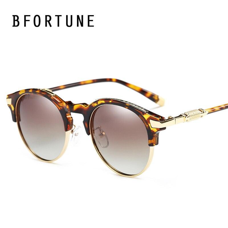 ab9bc5d4e4 BFORTUNE 2017 nueva llegada ronda gafas De Sol mujer marca diseñador Retro  gafas De Sol clásicas del ojo De gato Oculos De Sol Feminino