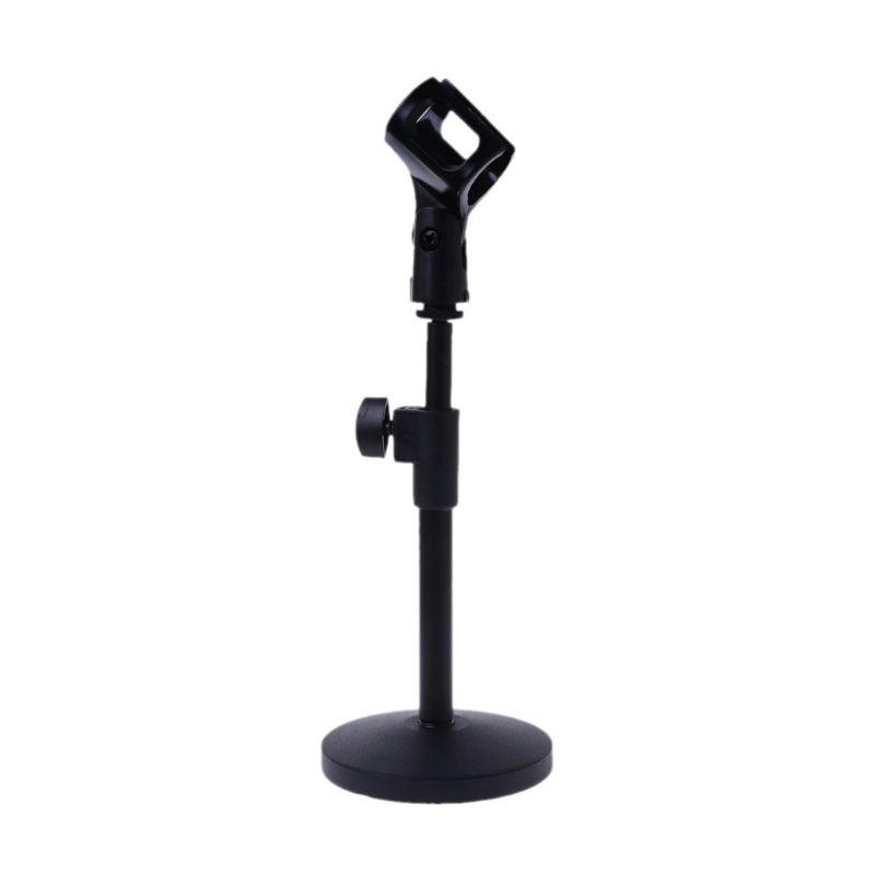 2019 Hot Sale Mudder Adjustable Foldable Desk Microphone Stand Plastic Base With Mic Clip For Meetings